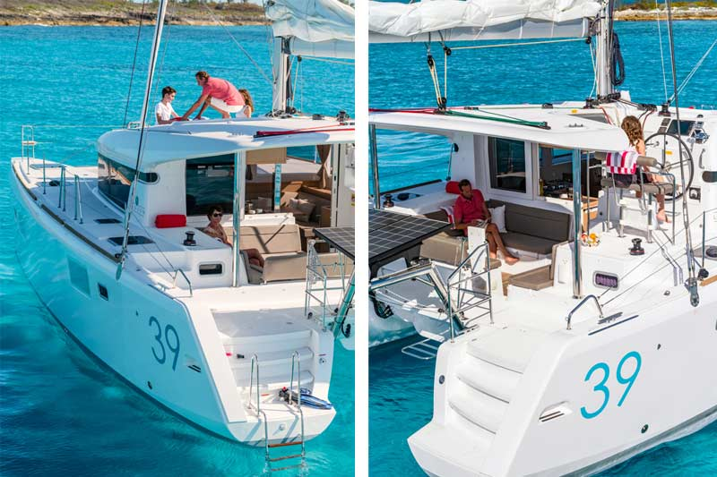 Noleggio catamarani lagoon 39 4 cabine sea land for Cabine del torrente francese
